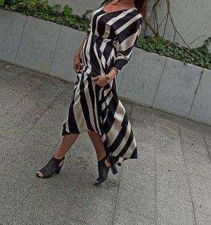 Zara Maxi abito nero-beige chiaro