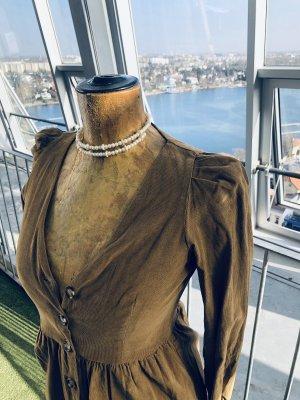 Zara Longsleeve Dress bronze-colored-light brown