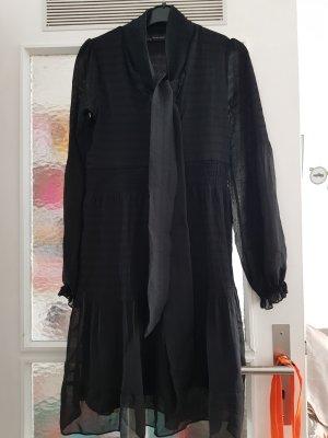 Zara Basic Chiffon Dress black