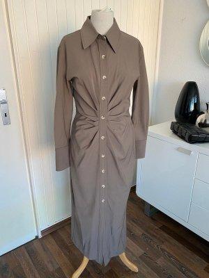 Zara Midi Dress grey brown