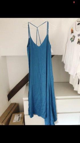 ZARA Kleid asymmetrisch Midi Türkis blau rückenfrei vintage blogger boho Style
