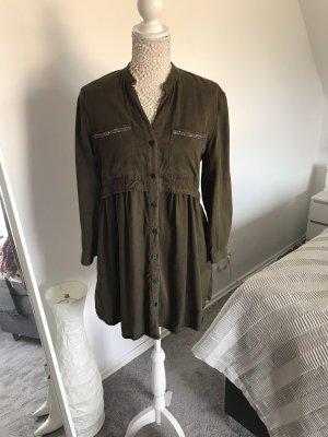 Zara Kleid aus festem Stoff mit Glitzer Steinchen
