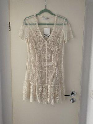 Zara Kleid aus Spitze mit Unterkleid S