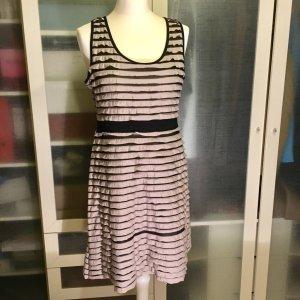 Zara Kleid aus Streifen Gr. 38 beige