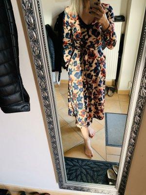 Zara Robe portefeuille vieux rose-bleu foncé