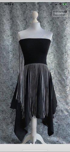Zara Kleid Bandeau schwarz M