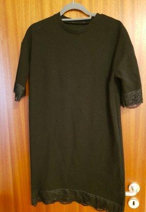 Zara Kleid Basic Shirtkleid schwarz Gr M/38