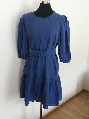 Zara Kleid blau mit Gürtel Gr 40