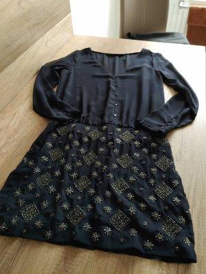 Zara-Kleid-Blau-mit-Pailletten-Gr-S Inde Zara Kleid Blau mit Pailletten Gr. S