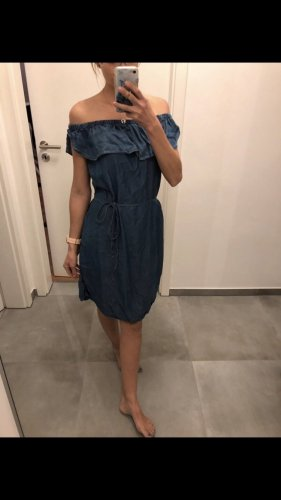 Zara Kleid blau xs s 3436 sommer jeanskleid Mode Fashion