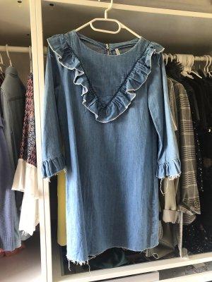 Zara Tunic Dress blue-steel blue
