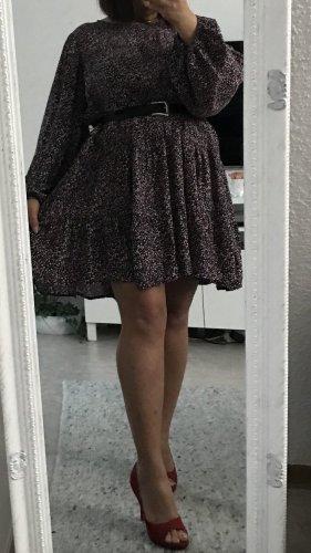Zara Sukienka z długim rękawem Wielokolorowy