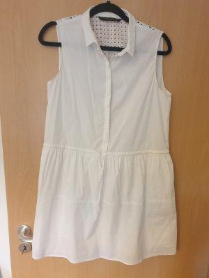 Zara Vestido camisero blanco
