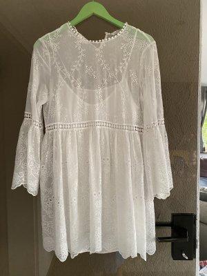 Zara Kanten jurk wit