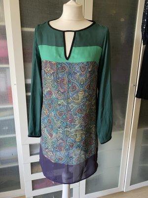 Zara Kleid Colour Blocking Paisley Gr S