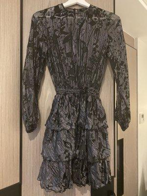 Zara Mini-jurk zwart-zilver Polyester