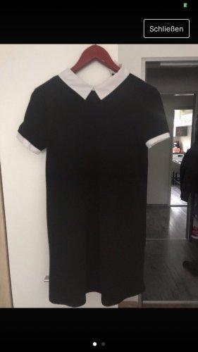 Zara Trafaluc Vestido con enagua negro-blanco