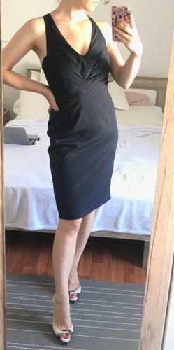 Zara Kleid Etuikleid Gr. S 36 34 XS dunkelblau Midikleid Bleistiftkleid Cocktail
