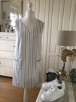 Zara Kleid Etuikleid weiß schwarz gestreift Gr. M