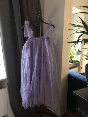 Zara Kleid Flieder Tüll S Oversized Babydoll Püppchen