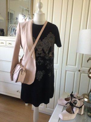 Zara Kleid Frontdruck Kurzarm schwarz Gr. L