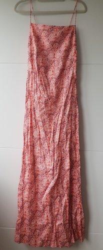 Zara Kleid geknittertes Midi-Trägerkleid mit Blumen XS