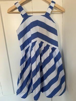 Zara Abito linea A bianco-blu acciaio