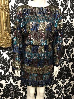 Zara Robe à paillettes multicolore