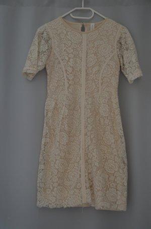 Zara Basic Robe à capuche beige clair viscose