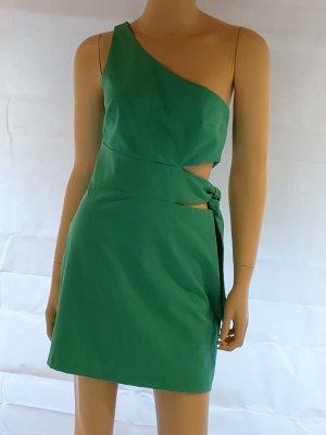 Zara Trafaluc Vestido de un hombro verde