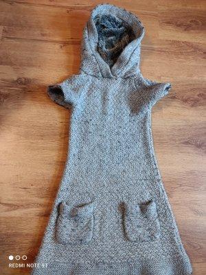 Zara Swetrowa sukienka szary