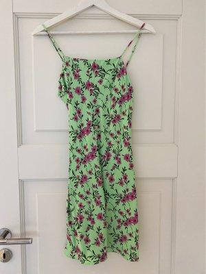 Zara Kleid Größe XS grün pink