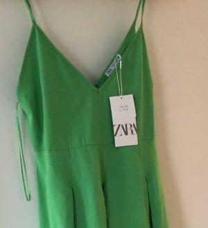 ZARA Kleid grün Baumwolle Sommerkleid neu