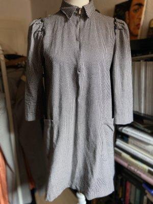 Zara Kleid Hahnentritt Gr. M 38 schwarz weiß