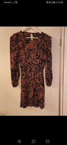 Zara Longsleeve Dress black-dark orange