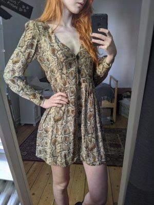 Zara Kleid in Schlangenprintoptik