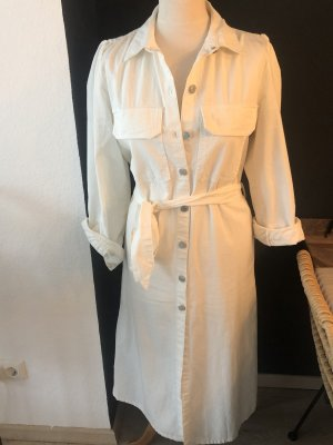 Zara kleid jeanskleid weiß neu Gr M ausverkauft blogger