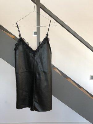 Zara Trafaluc Vestito in pelle nero