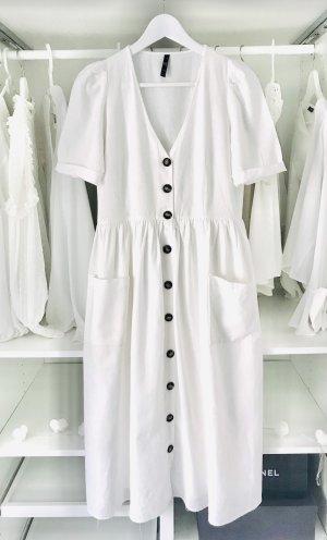 Zara Robe mi-longue blanc