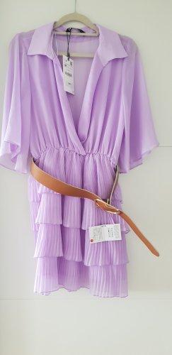 Zara Kleid Lila mit Gürtel Gr M