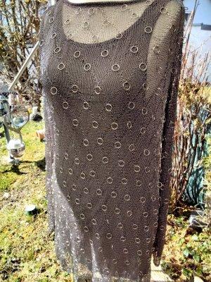 Zara Kleid metallicfäden M