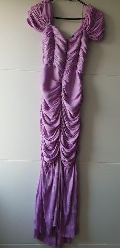 Zara Kleid Midi Midikleid lila Gr S