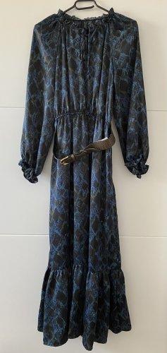 Zara Kleid Midikleid Schlangenfarben
