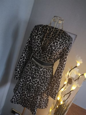 Zara Kleid Mini langarm Animalprint Gr. M