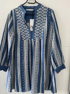 Zara Kleid Minikleid Blau Grösse XS Neu
