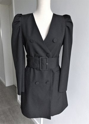 Zara Woman Coat Dress black viscose