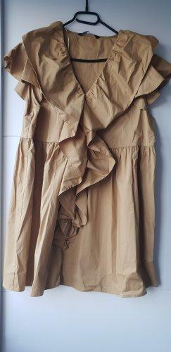 Zara Kleid minikleid mit Volant Gr M