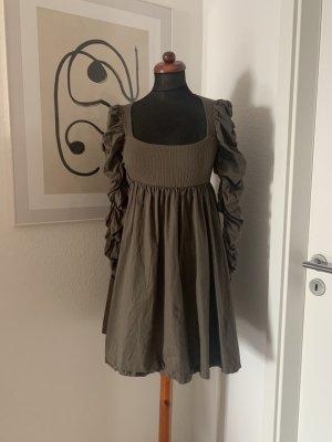 Zara Kleid Minikleid Ruffles toller Ausschnitt Baumwolle S 36