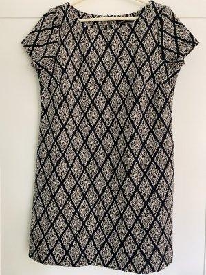 Zara Kleid mit goldfarbenem Muster