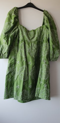 Zara Ballonjurk grijs-groen-wit